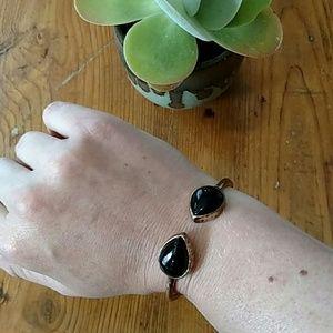 Vintage Black and Bronze Bracelet